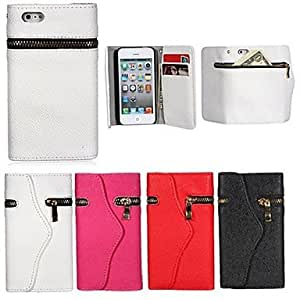 JJE Wallet style Full Body Case for iPhone4/4S (Assorted Color) , Black