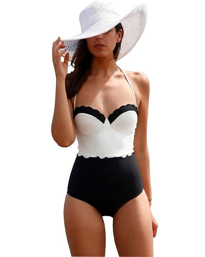 21 opinioni per Moollyfox Donna Elegante Un Piece Costumi Da Bagno Beachwear Push Up Diving Suit