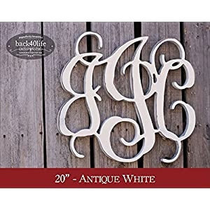 Back40Life | Unfinished Vine Monogram Wood Letters Cutout DIY Decor Nursery 4