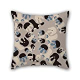 PILLO pillow covers of Colorful geometry 20 x 20 inches / 50 by 50 cm,best fit for relatives,dining room,family,bf,adults,family twin sides