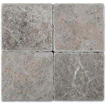 Silverado Gray 4X4 Marble Tumbled Mosaic Tile Amazoncom