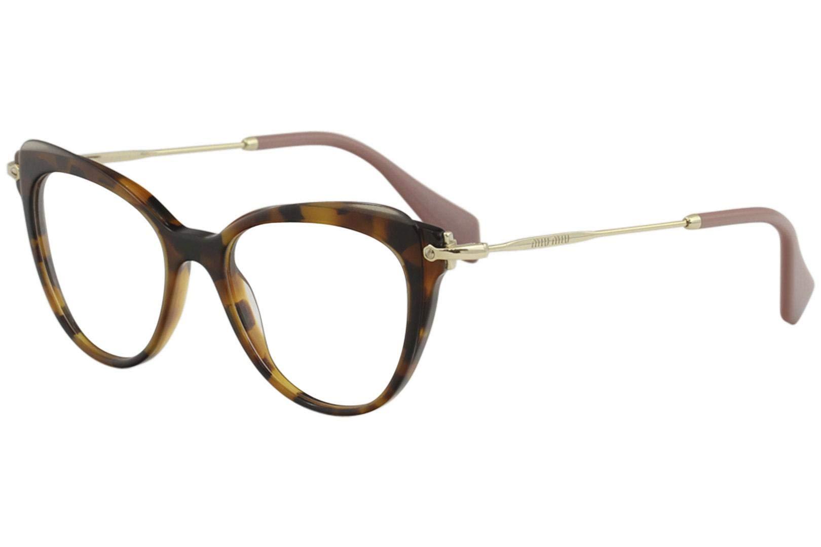 1f7ecd2cb8b Miu Miu Eyeglasses VMU01Q VMU 01Q VX8 1O1 Havana Full Rim Optical Frame 50mm