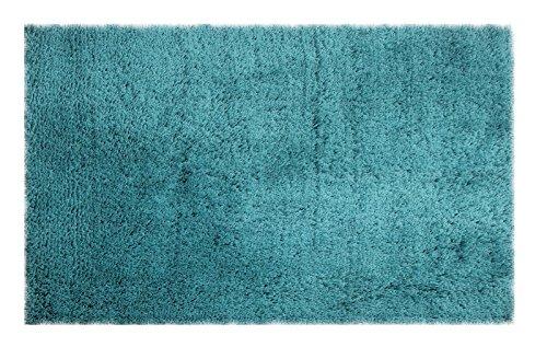 Chesapeake Merchandising 79207 Microfiber Shag Area Rug, 5' x 7', Teal