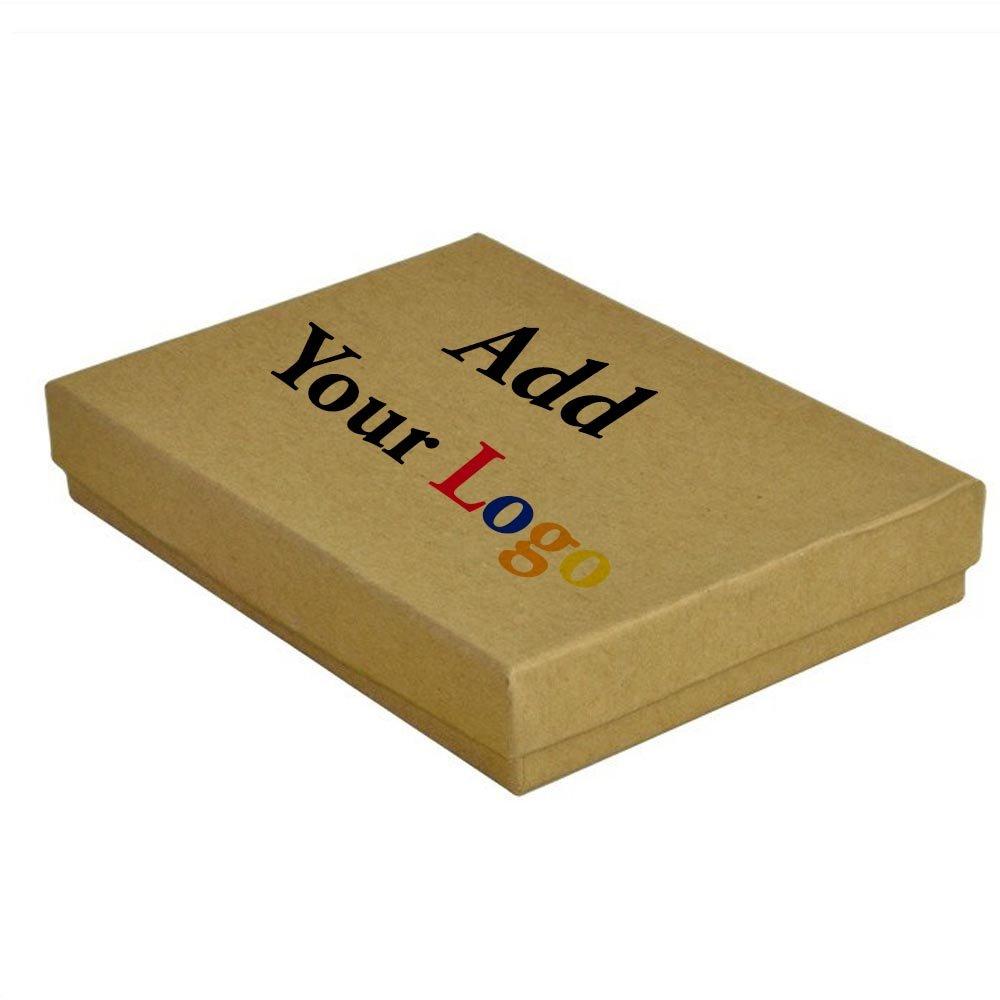 Custom Printed Kraft Cotton Filled Box #53~100 Per Pack
