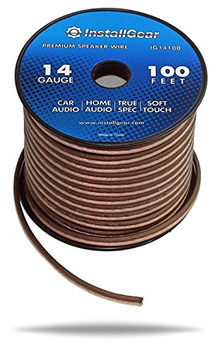 InstallGear 14 Gauge AWG 100ft Speaker Wire True Spec and Soft Touch Cable (Brown Speaker Wire compare prices)