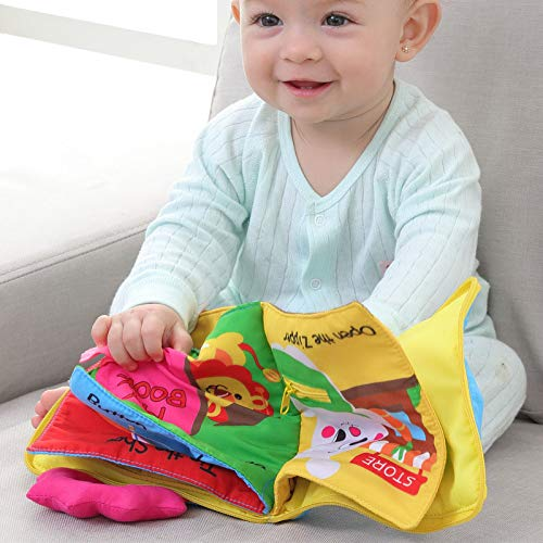PerGrate Child Fabric Book Pram Finding Squeaky Cute Toy Soft Infant Early Educational Development Book