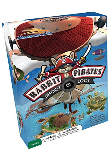 Rabbit Pirates Family Board Game - Card Game of War Played on Treasure Islands - Educational Fun for All Kids and Adults 7 and Up by RoosterFin