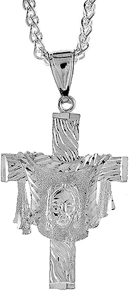 1 3//4 x 5//8 inch Sterling Silver Eagle Pendant