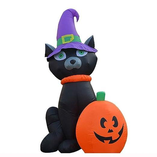 HOBBMS Horror de Halloween tema negro gato de la calabaza de ...