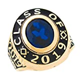 14k Gold Simulated September Birthstone 2019 Graduation Mens Class Ring