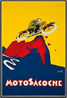 product image for Motosacoche Vintage Poster (artist: Nizzoli) Italy c. 1927 (12x18 Framed Gallery Wrapped Stretched Canvas)