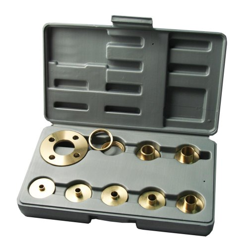 Kempston 99000 10 pcs Solid Brass Template Guide Kit With Adaptor (Guide Router Template Kit)