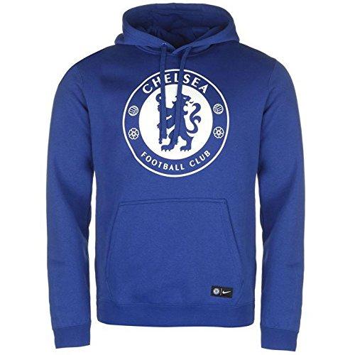 Nike Men's Chelsea FC Soccer Pullover Hoodie (Large) Rush Blue
