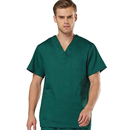 e528e2de3 OPPP Ropa médica Ropa de Lavado hospitalario Trajes de Manga Corta Batas de  algodón Abrigos de