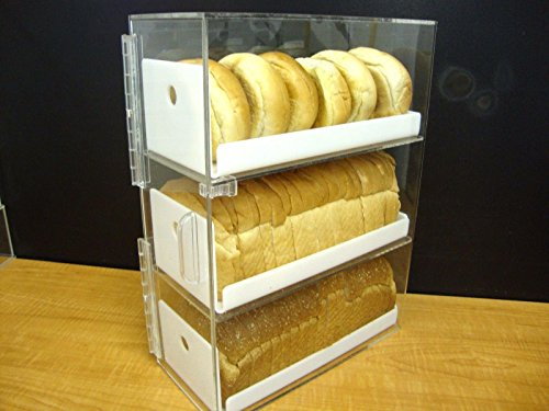 Displays2buy Acrylic Bread Donut Bagels Cookie CUPCAKE Pastry Bakery Storage 3 tiers Display without ()