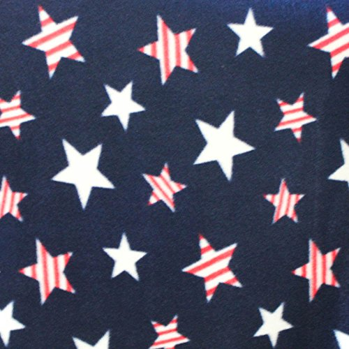 """American Stars Anti Pill Premium Fleece Fabric, 60"""" Inches Wide – Sold By The Yard"""