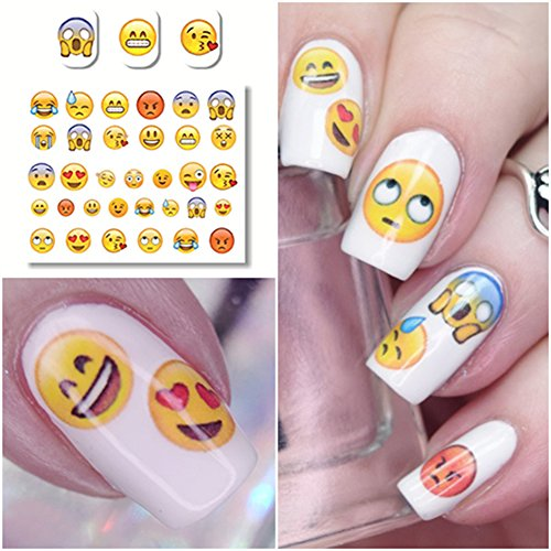 NICOLE DIARY Nail Art Stickers Various Expression Nail Art Decoration NDS-33