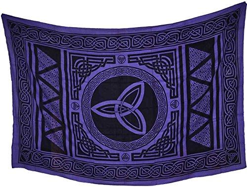 Home Décor Tapestries Triquetra Tripe Goddess Power Purple Black Large Bed Spread 72