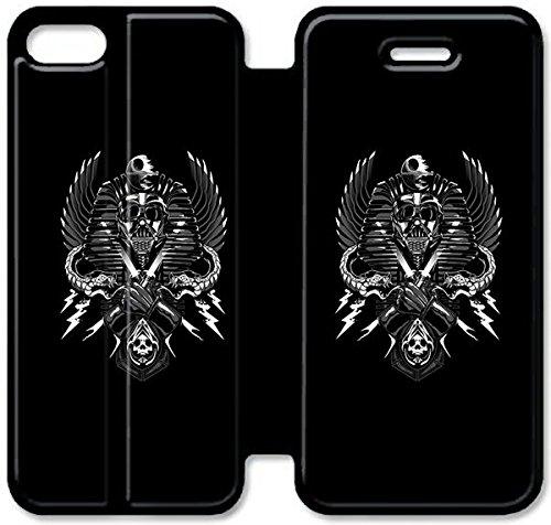 Flip étui en cuir PU Stand pour Coque iPhone 5 5S, bricolage 5 5S étui de téléphone cellulaire Star Wars Darth Vader Création G8S3NI Fashion Coque iPhone étuis en cuir