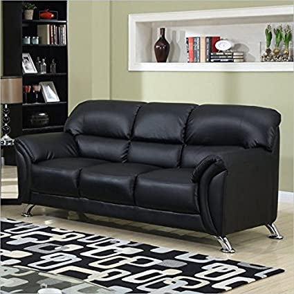 Exceptionnel Global Furniture Vinyl Matching Sofa With Black/Chrome Legs