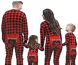Happyjiu Family Matching Christmas Pajamas Long Sleeve Plaid Family Pajamas