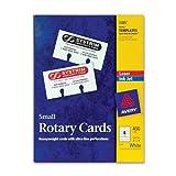 Wholesale CASE of 10 - Avery Laser/Inkjet Rotary Cards-Laser/Inkjet Rotary Cards, 2-1/8''x4'', 400/BX, White