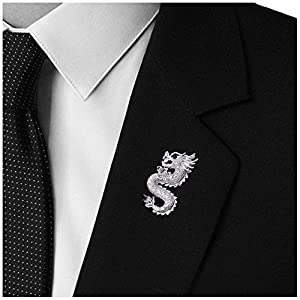 Mens Handmade Dragon Lapel Pins Tie Pin Suit Brooch
