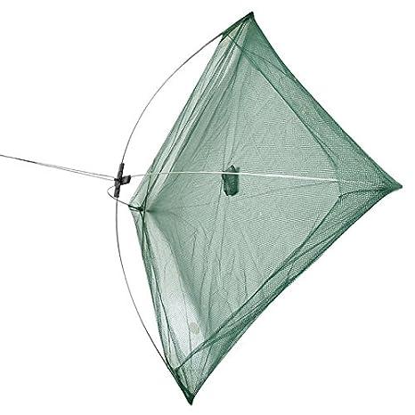 R SODIAL 50 x 50 cm Regenschirm Krabbe Koeder Werfen Fischen Senkmasche Gruen Kunststoff Regenschirm Fischen Senknetz