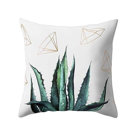 dragonaur Cactus diseño de flores manta funda de almohada ...