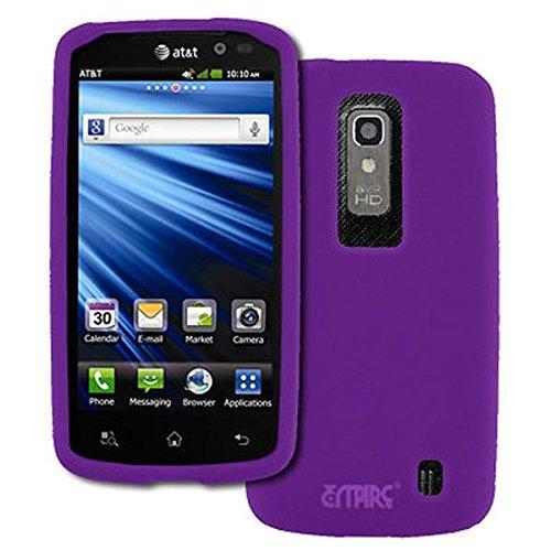EMPIRE AT&T LG Nitro HD Purple Silicone Skin Case Tasche Hülle Cover