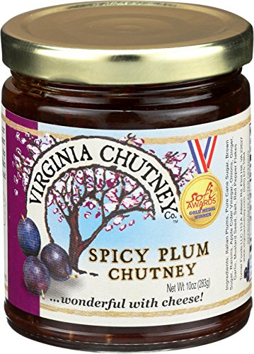 Plum Chutney- 2 PACK The Virginia Chutney Co. Spicy Plum Chutney - All Natural relish & Spread for hot & cold meat, fish, cheese and sandwiches