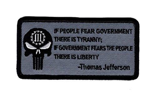 Tyranny Liberty 3% Percenter Thomas jefferson Hook Patch by Miltacusa (TH1) (Thomas Jefferson Patch)