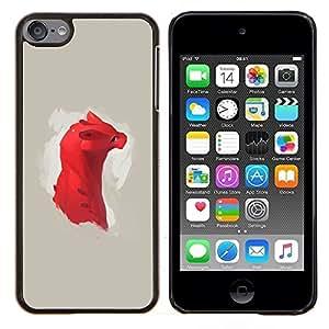 TECHCASE---Cubierta de la caja de protección para la piel dura ** Apple iPod Touch 6 6th Touch6 ** --Dragón rojo lindo