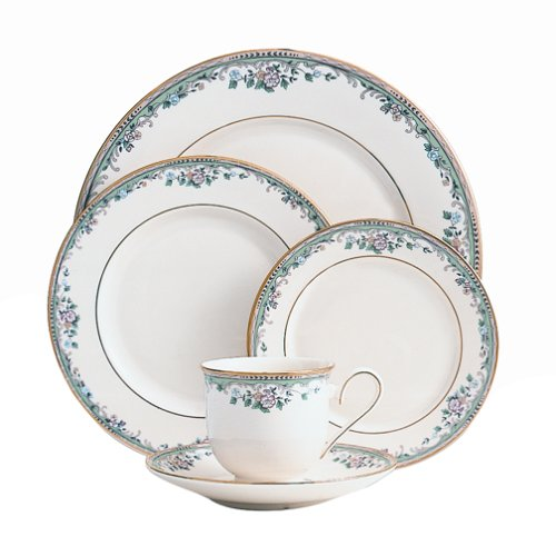 Lenox Spring Vista Gold-Banded 5-Piece Place Setting, Service for 1 (Vista Dinnerware Fine Spring)