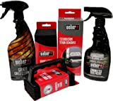 Weber Grill Cleaning Kit - Grill Spray Cleaner, Stainless Steel...