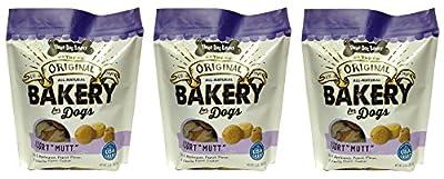 Three Dog Bakery Mutt Assortment Oats Applesauce Peanut & Vanilla Flavor Cookies (1 Pack), 2 lb