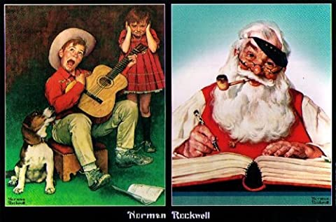 NORMAN ROCKWELL JIGSAW PUZZLE - THE MUSIC MAN/NO CHRISTMAS PROBLEM NOW (And The Winner Is Jigsaw Puzzle)