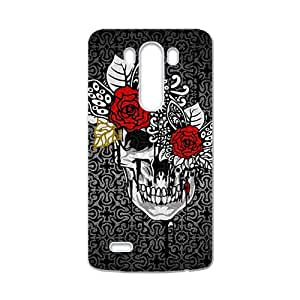 Creative Red Flowers Skull Custom Protective Hard Phone Cae For LG G3