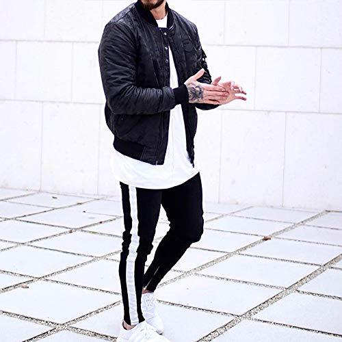 sonnena Hommes Coton B Baggy Casual Mode Sarouel Gym Hip Noir Automne De Homme Sport Chic hop Sweatpants Rayé Jogger Hiver Pantalons Pantalon 1Ex55T