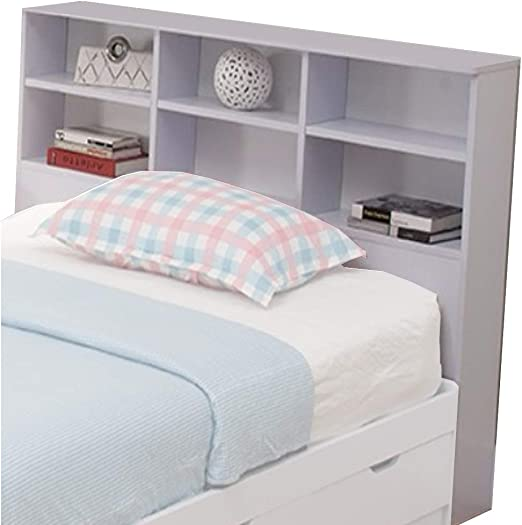 Amazon Com Benzara Wooden Full Size Bookcase Headboard With 6