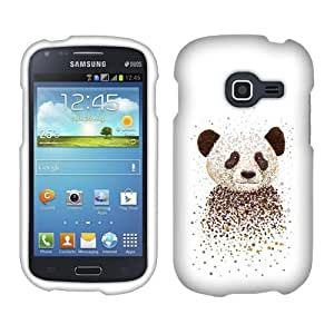 Fincibo (TM) Protector Cover Case Snap On Hard Plastic Front And Back For Samsung Galaxy Discover S730G Centura S738C - Panda Portrait