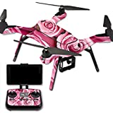 MightySkins Protective Vinyl Skin Decal for 3DR Solo Drone Quadcopter wrap cover sticker skins Pink Roses