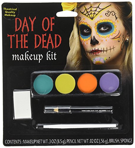 Day Of The Dead Female Makeup Kit (colors may -