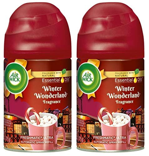 (Air Wick Freshmatic Ultra Automatic Spray Refill - Holiday Collection 2018 - Winter Wonderland - Net Wt. 6.17 OZ (175 g) Per Refill Can - Pack of 2 Refill Cans)