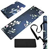 June & Juniper Foldable Travel Yoga Mat, Thin,Light,Non-Slip
