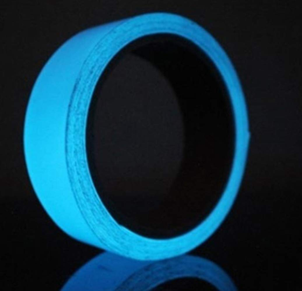 Sky Blue Glow in The Dark Luminous Tape. 5 Meters. Removable and Waterproof Gerts Glow House