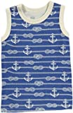 Winter Water Factory Boys' Tank Top (Toddler/Kid) - Ropes/Anchors Blue- 8