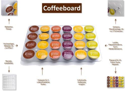 Amazon.com : Coffeeboard Kapselhalter für Nescafé Dolce Gusto Kapseln, Wandmodell : Coffee Services : Grocery & Gourmet Food