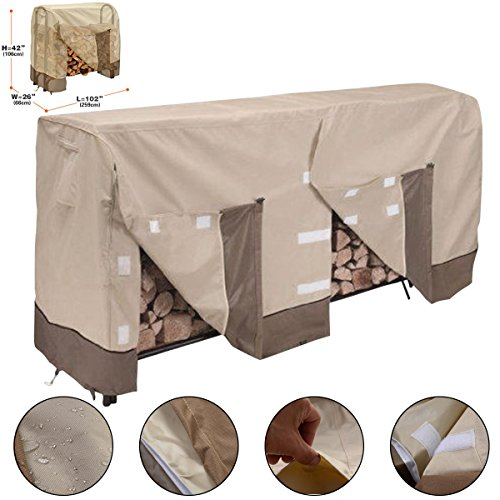 8FT Waterproof Outdoor Veranda Log Rack Cover Protection (Indoor Air Conditioner Cover Xl compare prices)
