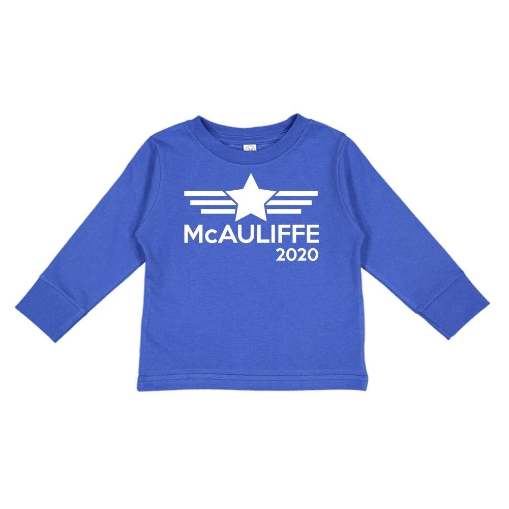 Mashed Clothing McAuliffe 2020 Presidential Election 2020 Toddler//Kids Long Sleeve T-Shirt